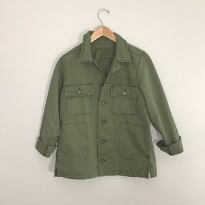 American Eagle army green military shirt jacket